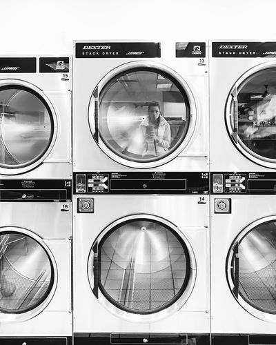 eighteen. B & W By Yeli Laundry Washing Machine Laundromat Dryer  Machinery Appliance Hygiene Chores Convenience Domestic Life Indoors  Cleaning Washing Freshness Close-up