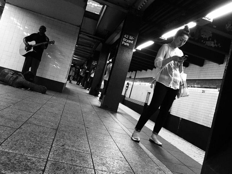Blackandwhite Metro Metro Station City Life