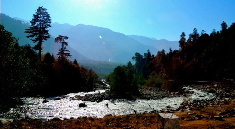 River Beas on the way to Manali. Sky Beauty In Nature Landscape Nature