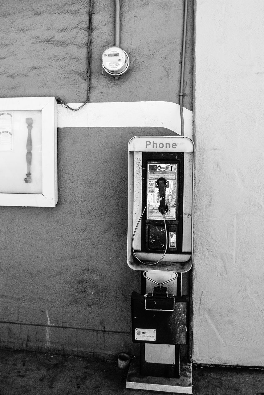 telephone, connection, communication, pay phone, architecture, technology, telephone receiver, telephone booth, old-fashioned, built structure, telecommunications equipment, building exterior, day, no people, outdoors, close-up