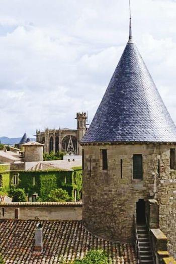 Carcassonne France Carcassonne Carcassone, France Carcassonne Castle Carcassonne City La Cité Historical Building Historical Place Historic Site Historic Building