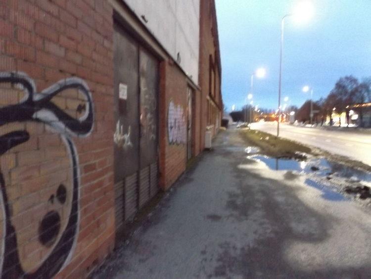Lights Abandoned Buildings Architecture Brick Brick Building Bright Night City Grafitti Moody Night Street