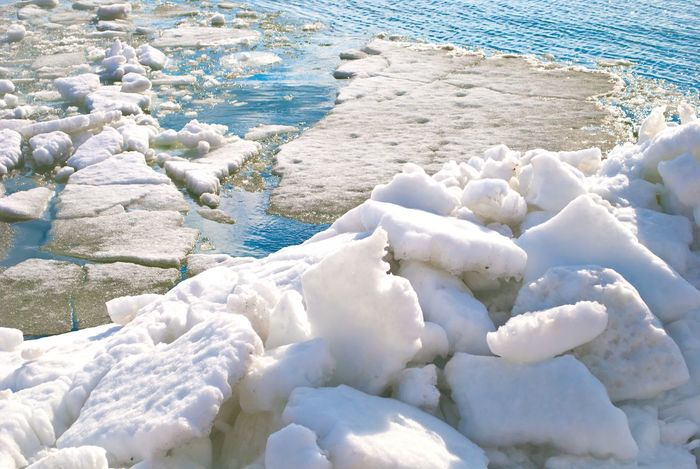 Sunny Day Azov Sea Ice Water Sea View Beautiful Nature Hello World Cristal Clear Spring Into Spring