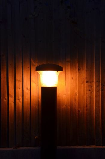 Night Light Lighting Equipment No People Illuminated Outdoors Electricity  Architecture Night Close-up Shining Wooden Fence There Shines A Light