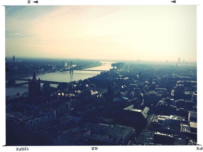 Köln Kölner Dom Aussicht Genießen Über Den Dächern Von... Cologne Above The Roof Enjoying The View