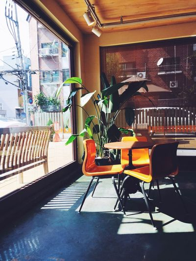 My Favorite Place Cafe Seoul Chair Sunshine Coffee Time Perfect Day