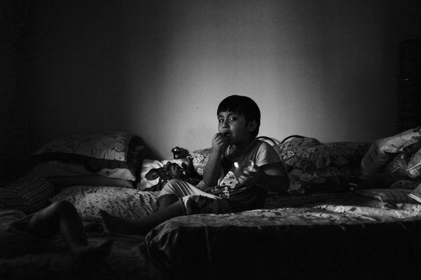 Black And White Friday Bed Indoors  Childhood Child Blackandwhite EyeEmNewHere Malaysia