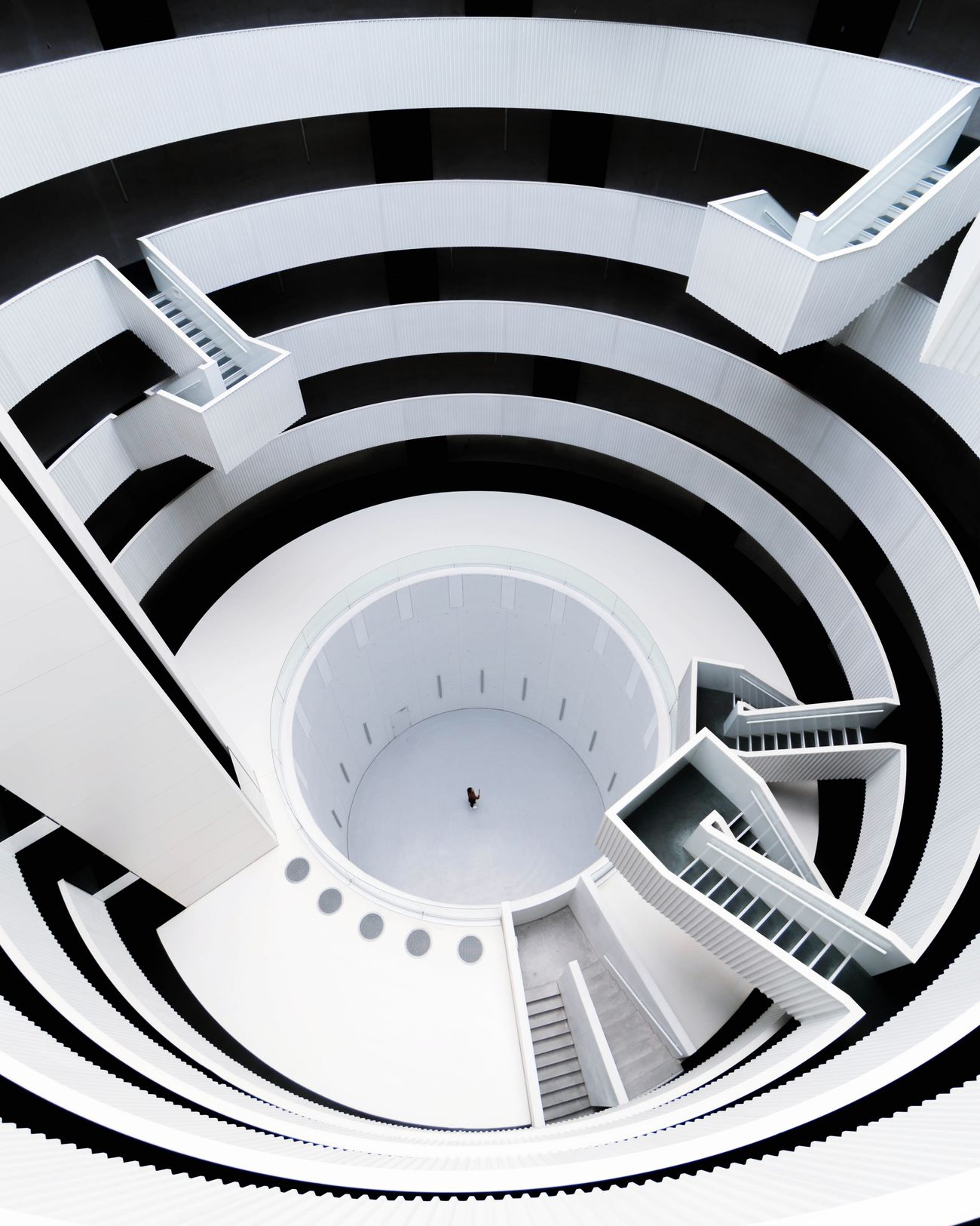 steps and staircases, staircase, indoors, pattern, spiral