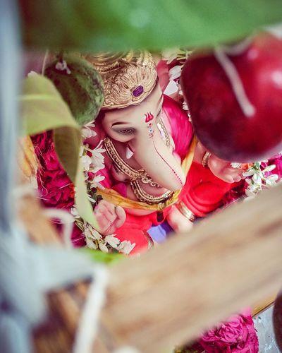 Ganesh Charurthi Ganeshidol LordGanesha Ganesha Indianfestival India Multi Colored Celebration Red Close-up A New Beginning