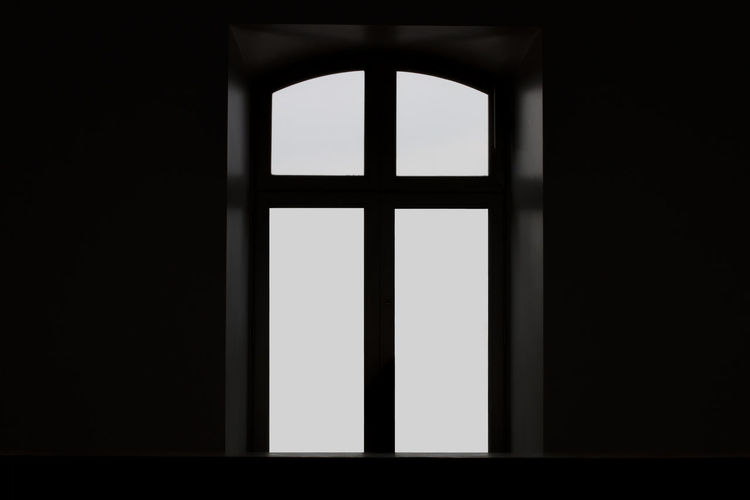 Close-up of window in building