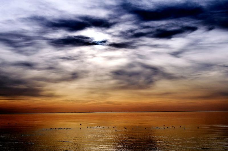 Dramatic Sky Northsea Evening Sky In The Mood Moody Sky Mood Captures Mood Warm Colors Night Lights Beautiful Nature EyeEm Nature Lover Sunset Sea Outdoors Scenics Cloud - Sky Sky Nature An Eye For Travel Summer Exploratorium
