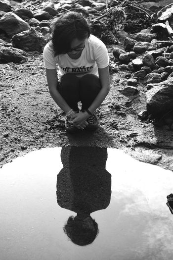 Showcase: December Taking Photos Yogyakarta, Indonesia Indonesia_photography EyeEm Indonesia Black And White Photography Enjoying Life Chinagirl Hanging Out Watermirror