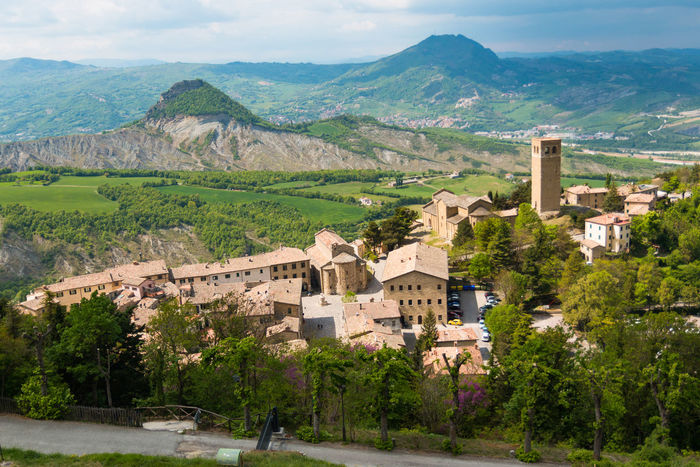 Architecture Beauty In Nature Building Exterior Built Structure Day Fortress House Italy Landscape Mountain Mountain Range Nature No People Outdoors Rimini San Leo Scenics Sky Town Tree