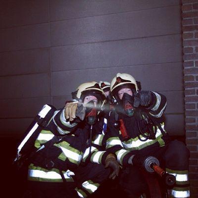 Hard gewerkt gisteravond! Laatste oefenavond van 2013 in Naarden met Brandweer post Bussum