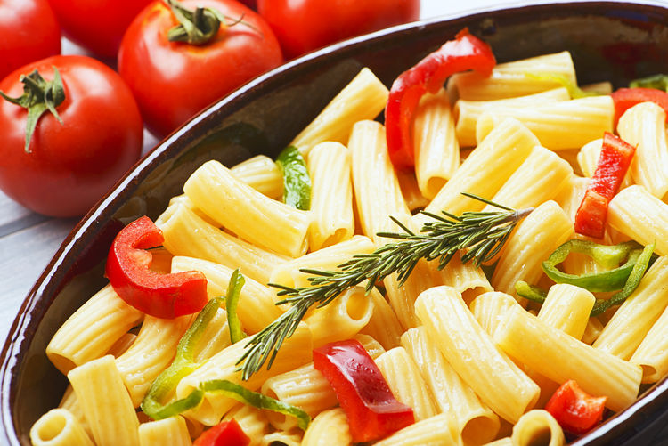 Close-Up Of Pasta In Bowl