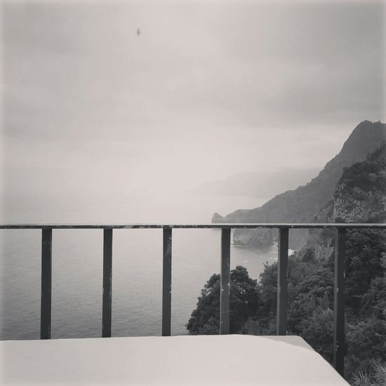 Black & White Mountains Sea Madeiraisland Santana Lunch view