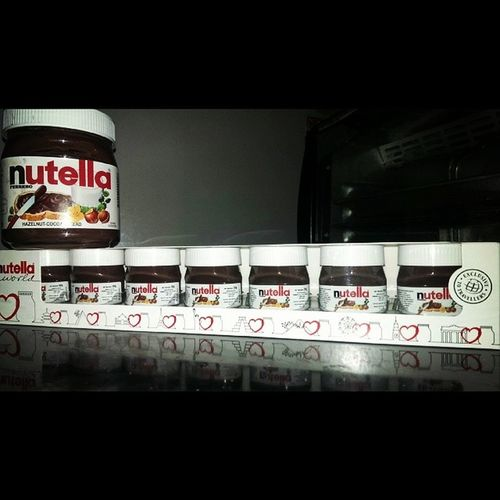 Big Nutella Small Nutella! ?? Thx mommy for the gifts!! ❤?❤ Smalliscute
