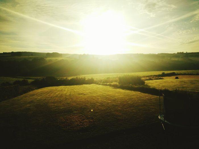 Good morning, here in the hills of Belgium. Sunrise Morning Hills Belgium Green