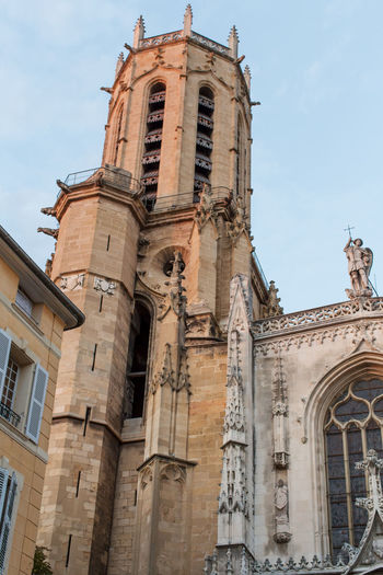 Cathedral of San Salvador (Saint-Sauveur), Aix-en-Provence Architecture Building Exterior Built Structure Church Cloud - Sky Day Façade Low Angle View No People Outdoors Place Of Worship Sky Tall Tall - High Tower Window