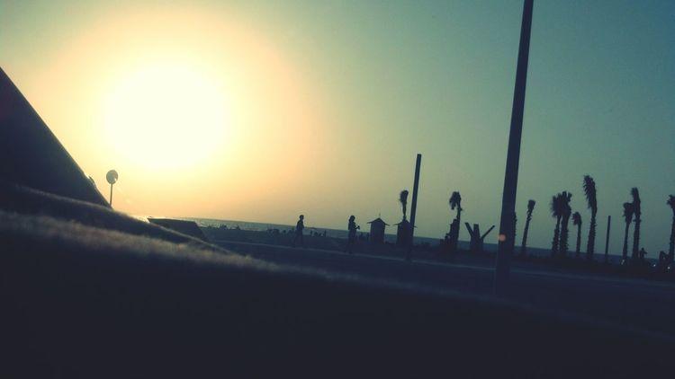 Jumeirah sunset. Dashcam Letsgohome