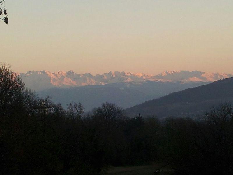 Montagnes Coucher De Soleil Savoie Paysage