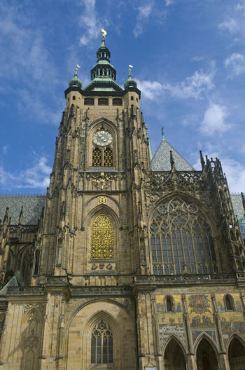 St. Vitus Cathedral, Prague, Czech Republic Cathedral Prague Saint Vitus Saint Vitus Cathedral Architecture Building Building Exterior Built Structure Cloud - Sky Day History Low Angle View No People Place Of Worship Religion Sky Spire  Spirituality St Vitus Cathedral Tower Travel Destinations