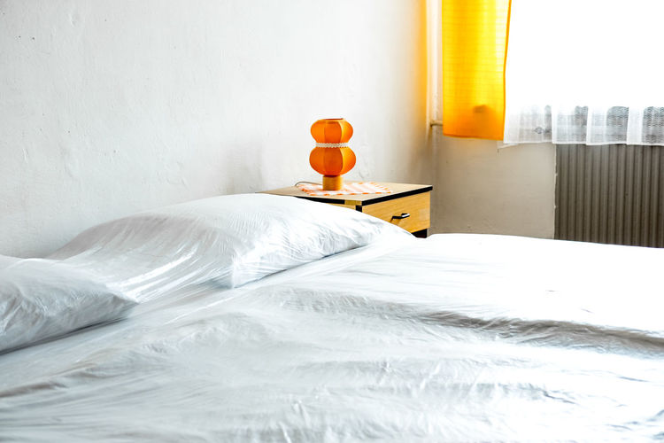 Bed in domestic room