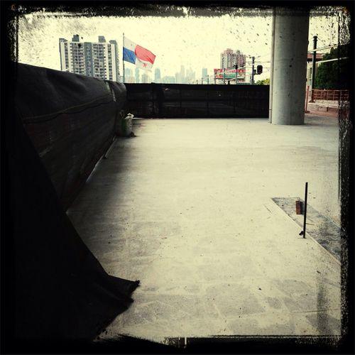 Vista desde la futura estacion Metro-12 octubre