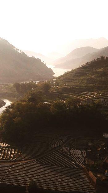 二滩库区源头 Agriculture Mountain Landscape Field Sunset No People Sun