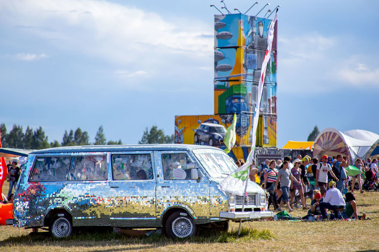 Festival Festival Season Festivals Music Festival Rock Festival Nashestvie Russia Transportation Sky Mode Of Transportation Group Of People Real People Cloud - Sky Day Land Vehicle Nature Men Outdoors Travel Adult Architecture Car People Women Arts Culture And Entertainment Crowd My Best Photo