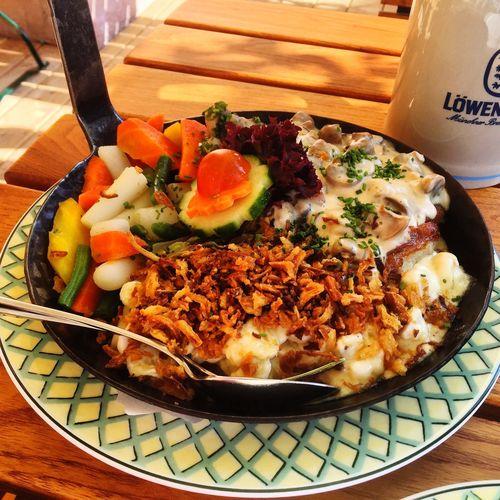 Bavaria German Food GERMANY🇩🇪DEUTSCHERLAND@ Schwammerlpfandl Biergarten Beergarden