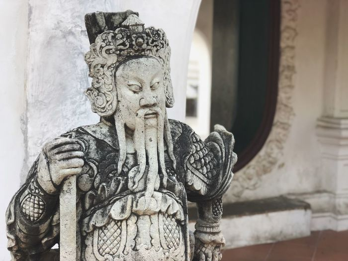 Statue Sculpture Art And Craft Creativity Human Representation Religion Carving - Craft Product Spirituality Focus On Foreground No People Day Place Of Worship Indoors  Close-up