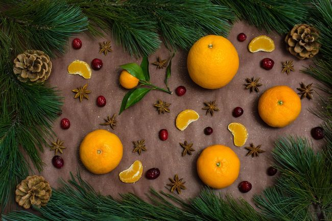 When you are waiting for new year Fruit Orange - Fruit Citrus Fruit Orange Color Freshness Healthy Eating Grapefruit Food Nikon D5200 Nikonphotography Food And Drink Rustic Indoors  No People Mandarins Cristmastree Cranberry