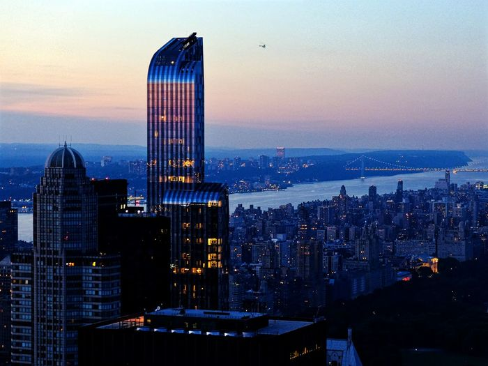 New York City at sunset, north view from the Rockefeller Center - NYC New York City New York Landscape Cityscape Architecture Sunset Skyscrapers Tall Tall - High Building One57 TowerOne57 Battle Of The Cities