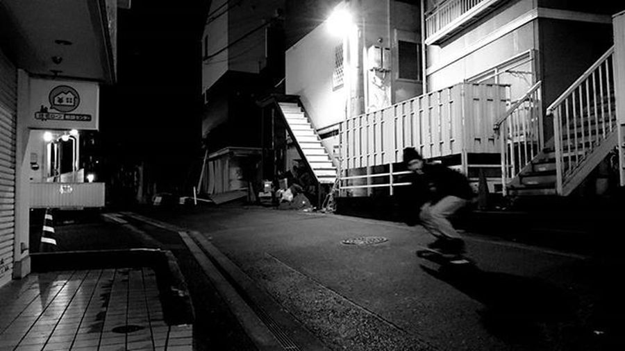 真夜中のすけぼー Japan Tokyo Shibuya Shinsen Skateboard Skate Midnight Night Surf Surfing Surfer Training Fhoto Fhotography