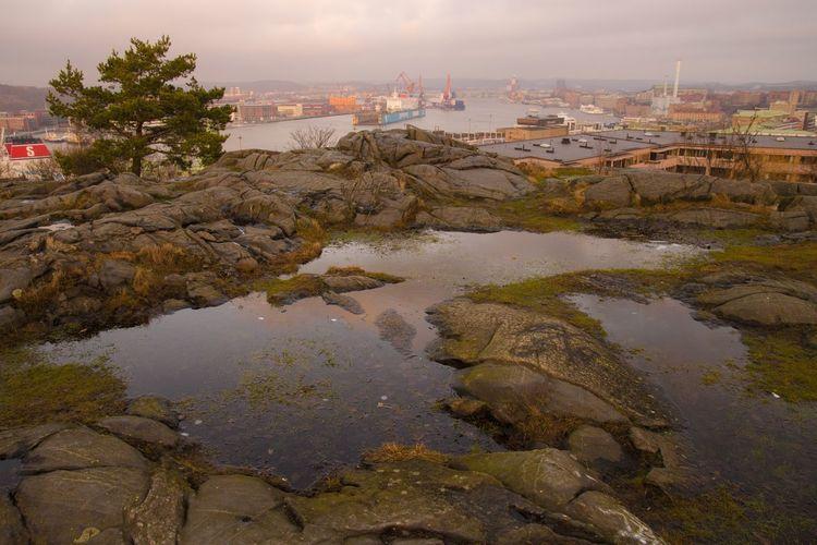 River Rock - Object Rock Formation Sweden Göteborg Sweden