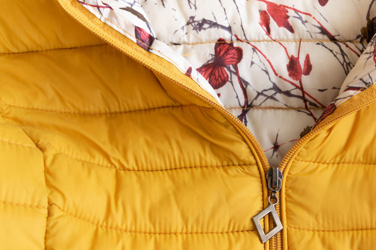 Full frame shot of padded jacket