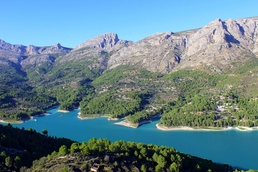 Guadalest Beauty In Nature Blue Clear Sky Day Idyllic Lake Mountain Mountain Range Nature No People Non-urban Scene Outdoors Scenics Sky Tranquil Scene Tranquility Water