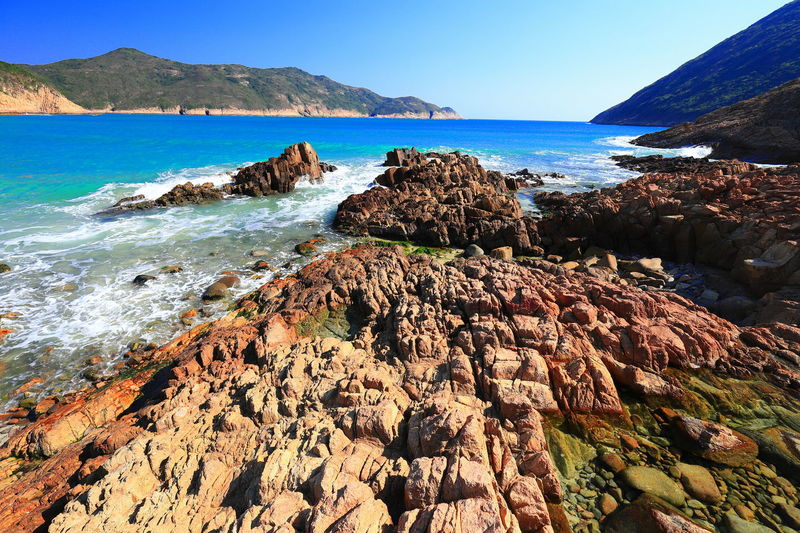 16-35mm F4L Canon Canon_photos Canonphotography Tadaa Community Hello World Discoverhongkong 16-35mm F4L Wave Rocks And Water Sea Water Beach Nature Day Outdoors Rock - Object No People Sky Scenics Beauty In Nature Horizon Over Water Clear Sky