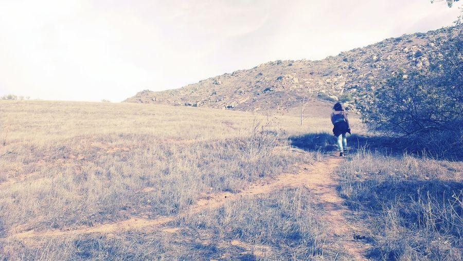 Hiking To The Top Take A Walk