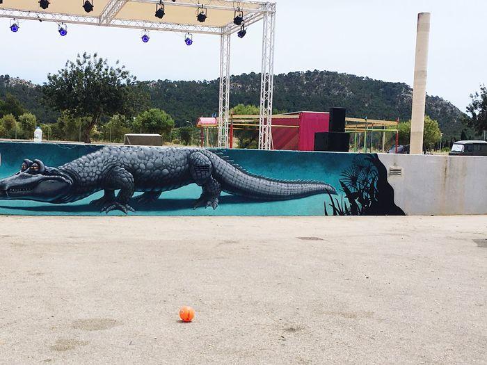 Graffiti Art Animal Representation Cocodrile Hippie