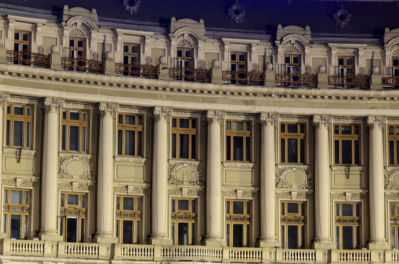 Architectural Feature Architecture Bucharest Building Building Exterior Built Structure Capital Cities  City City Life Columns Exterior Old Old Buildings Outdoors Pattern Romania