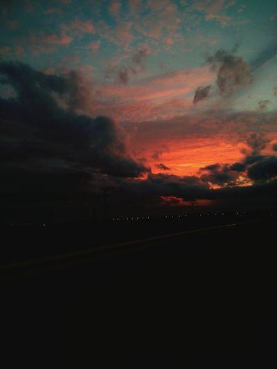 Skyonfire Sky Skyporn Sky And Clouds Sunset