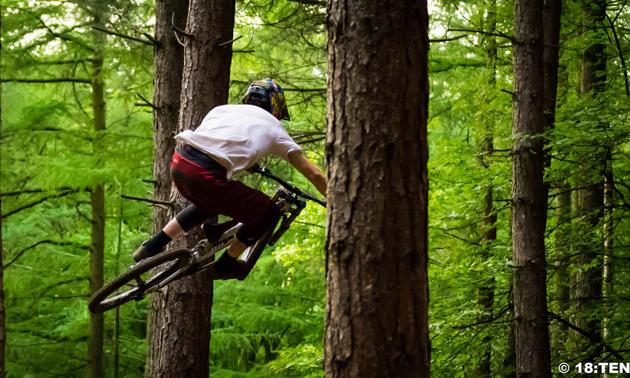 Action Action Shot  Adrenaline Junkie Beauty In Nature Day Downhill Forest Freeride Grass Green Color Growth Lifestyles MTB Nature Non-urban Scene Outdoors Tranquil Scene Tree Tree Trunk Wharncliffe