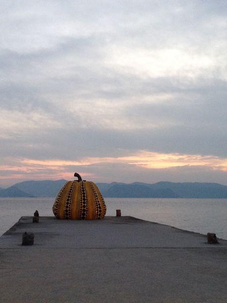 Japan Naoshima Pumpkin Island Art Pop Art Yayoi Kusama