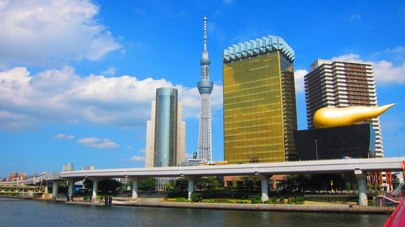 1989 Asahi Beer Hall Asahi Beer Headquarters Asakusa Asakusa Station Beer Canon Powershot S95 Canon S95 Canonphotography Good Weather ♥ Have A Beer Interesting Design Japan Modern Structure Philippe Starck Poo Building Skytreetokyo Skytreetokyo Sumida The Golden Turd 金のうんこ