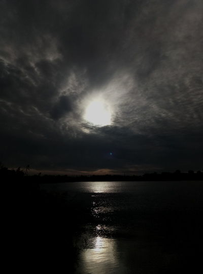 Eye in the Sky Water Reflection Cloud - Sky Scenics Night Nature Outdoors No People Tranquility Travel Destinations Landscape Beauty In Nature Sun Astronomy