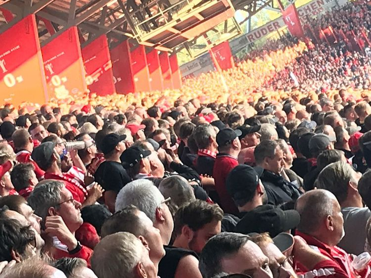 Soccer Union Berlin Alte Försterei Fussball Eisern Union Fan Crowd Group Of People Real People Large Group Of People Event Enjoyment Spectator Sport Stadium Happiness