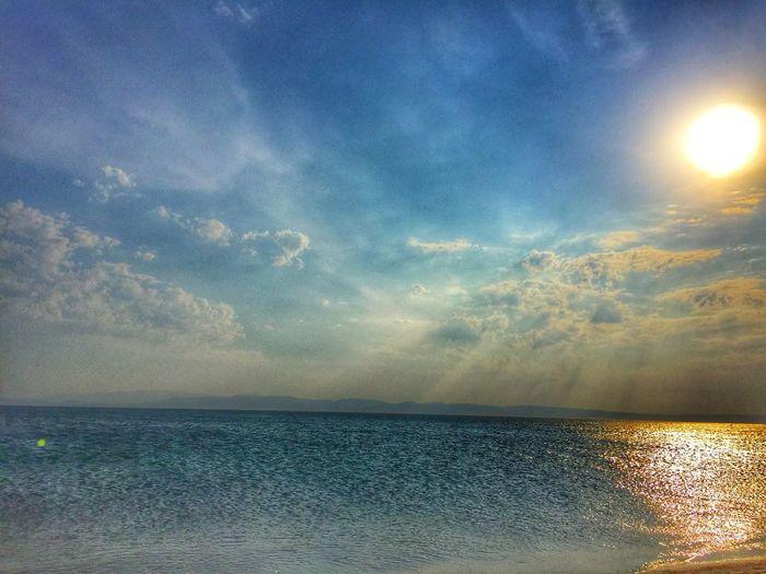 Sea Swimming IPhoneography Iphone6 2016 EyeEm Awards Sunday Deniz Huzur Gokyuzu Bulutlar Gunes Blue Mavinintonları Denizhavası Object Photography Beautiful Plaj Kum