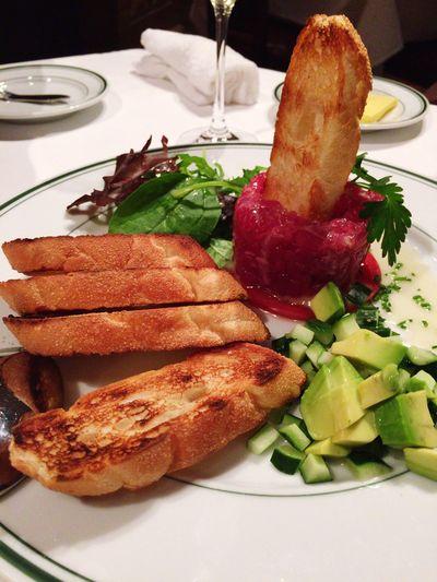 鮪タルタル Food And Drink Food Freshness Ready-to-eat Plate Vegetable Serving Size